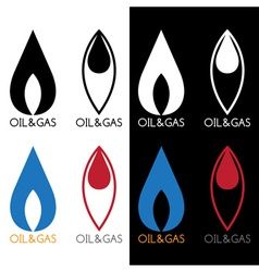 oil and gas industry icons vector image
