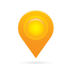 orange map pointer icon marker GPS location flag vector image vector image