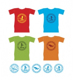 t-shirts for extreme sports vector image