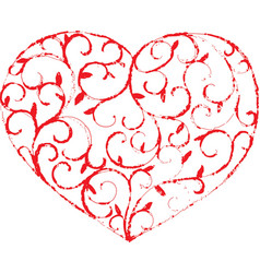 vine heart1 vector image vector image