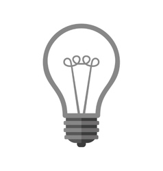 Bulb Icon on White Background vector image
