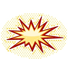 Bursting icon vector image vector image