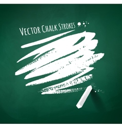 Hand drawn chalk strokes vector image vector image