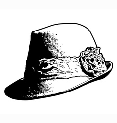Vintage Womans Hat vector image vector image