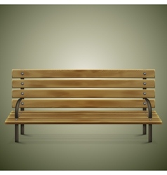 Wooden Detailed Bench On Green vector image vector image