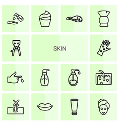 14 skin icons vector