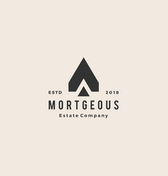 a letter house home mortgage real estate hipster vector image