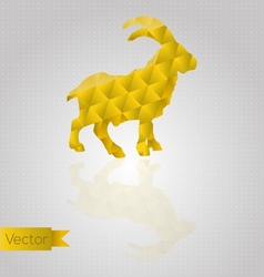 Abstract triangular goat vector image