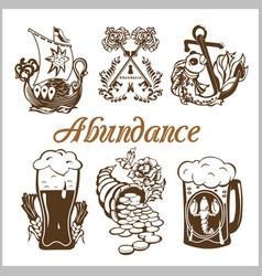 Abundance food set vector