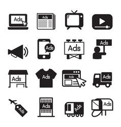 Advertise icon set vector