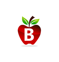 Apple letter b logo design template vector