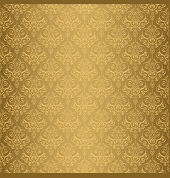 Beige damask seamless pattern backdrop vector