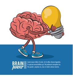 Brain power poster vector