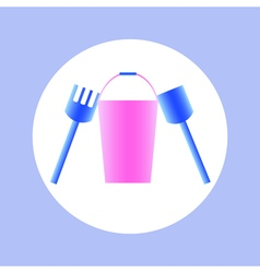 bucket toy in circle vector image