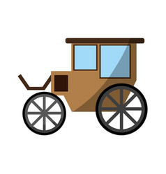 carriage wagon icon image vector image