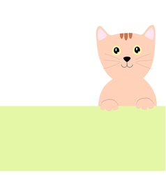 Cat pastel background with space for your text vector