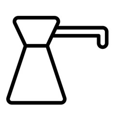Coffee turk line icon coffee pot vector