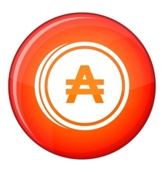 Coin austral icon flat style vector