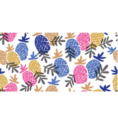 colorful minimalistic pineapples pattern vector image