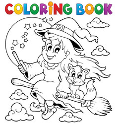 Coloring book halloween image 1 vector