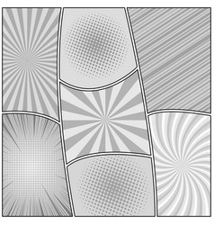 Comic book page gray light background vector