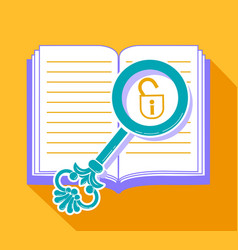 Concept of reading discovering secrets vector