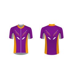 cycling jersey mockup vector image