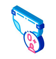 Diaper newborn isometric icon vector