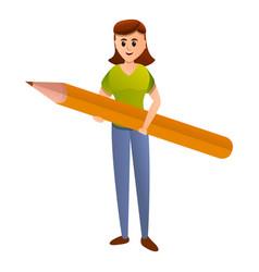 Editor girl icon cartoon style vector