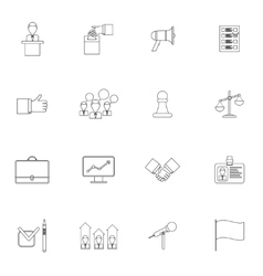 Elections icons set outline vector