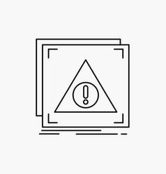 Error application denied server alert line icon vector