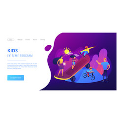 Extreme camp concept landing page vector
