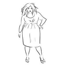 fat elegant woman vector image