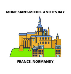 France normandy - mont saint-michel and its bay vector