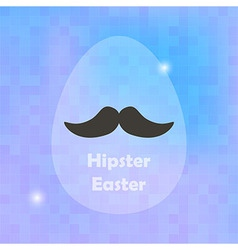 Hipster Easter Greeting Card with Egg and blured vector image