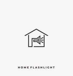 Home plash light template vector