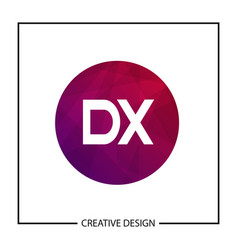initial letter dx logo template design vector image