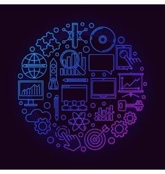 Innovation round bright symbol vector