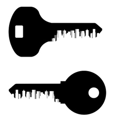 key logo design template City or town icon vector image