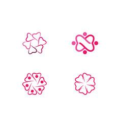 Love logo icon vector