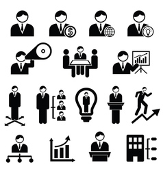 Management icons vector