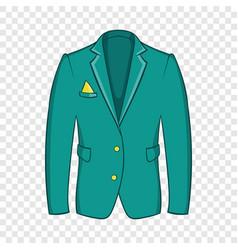 Mans green jacket icon cartoon style vector