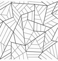 Monochrome mosaic seamless pattern vector