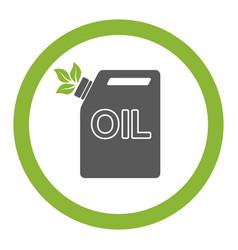 Oil bottle gallon liquid tool fuel industry vector