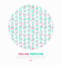 online medicine telemedicine concept vector image