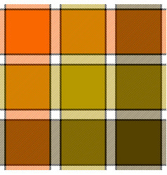 Orange khaki marsh color check plaid seamless vector