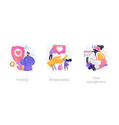 Personal and professional skills concept vector
