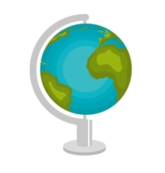 planet earth school icon vector image