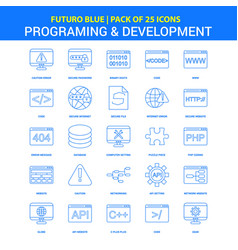 Programming and developement icons - futuro blue vector