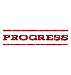 Progress Watermark Stamp vector